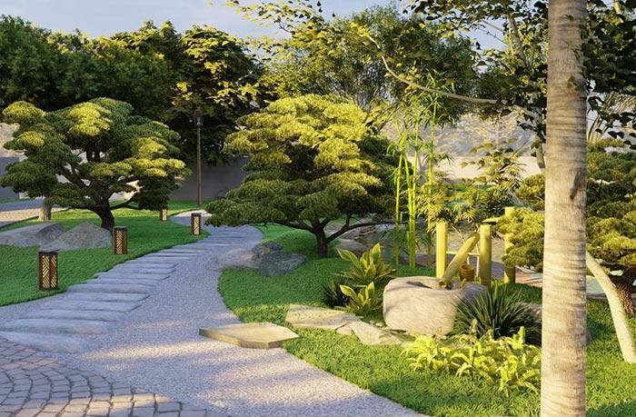 sân vườn Nhật Bản