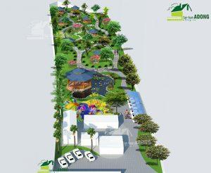 cảnh quan sân vườn khu nghỉ dưỡng sinh thái