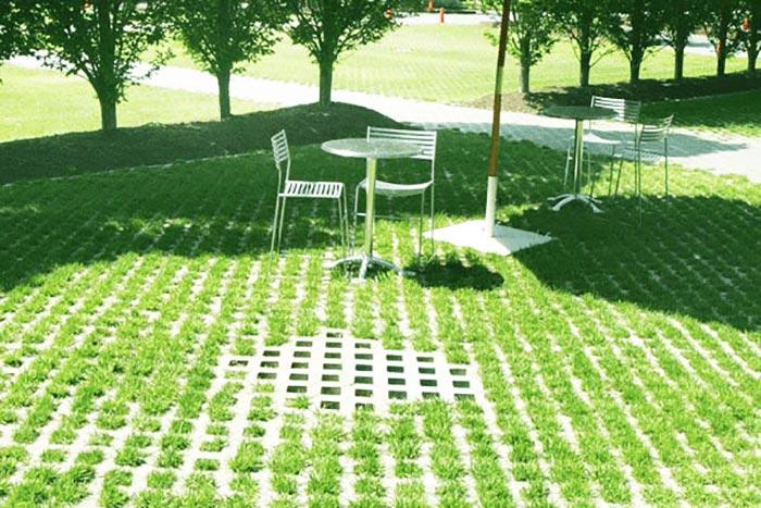 Gạch block trồng cỏ