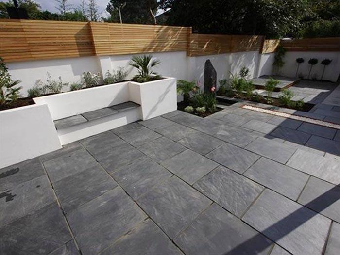gạch granite lát sân vườn