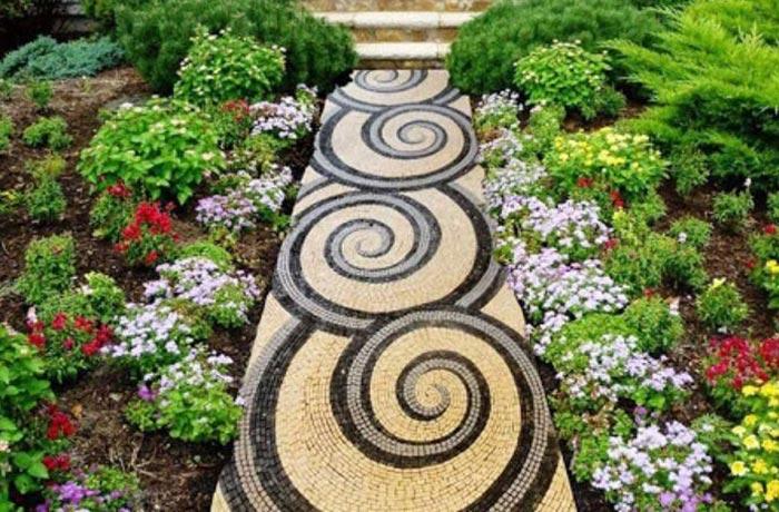 Gạch lát sân vườn Mosaic