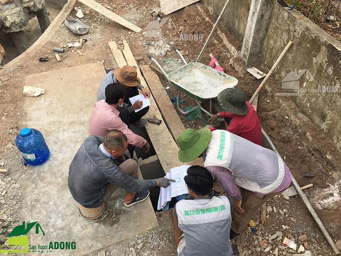 thi công cảnh quan sân vườn khu nghỉ dưỡng gia đình ở Bình Phước