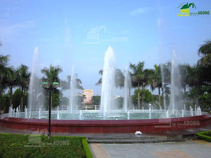 Thi công đài phun nước công viên