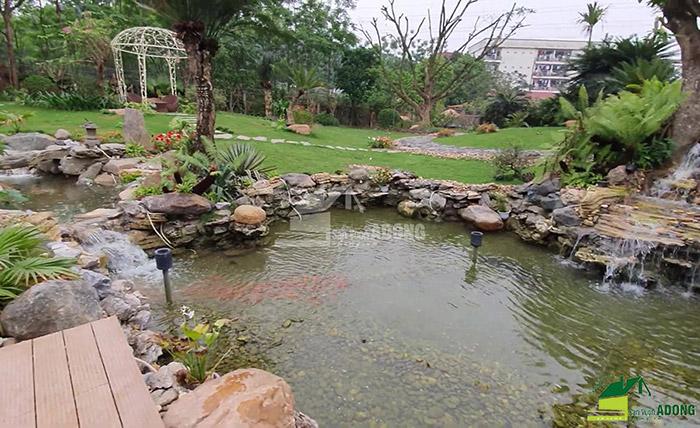 Thi công sân vườn biệt thự tại Bình Dương view 02