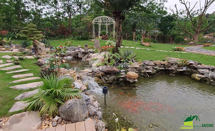 Thi công sân vườn biệt thự tại Bình Dương view 03