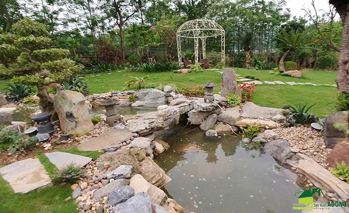 Thi công sân vườn biệt thự tại Bình Dương view 04