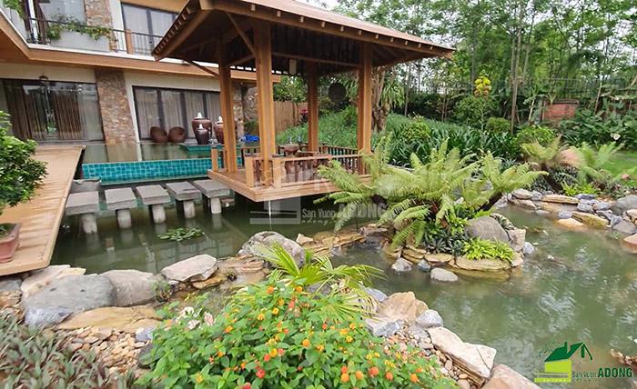 Thi công sân vườn biệt thự tại Bình Dương view 06