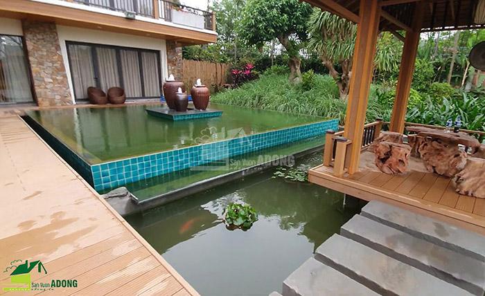 Thi công sân vườn biệt thự tại Bình Dương view 07