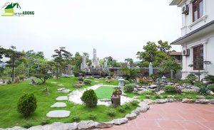 thi công sân vườn biệt thự tại Vĩnh Phúc