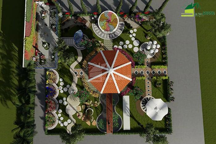 thiết kế cảnh quan công viên tại Thanh Hóa góc nhìn 01