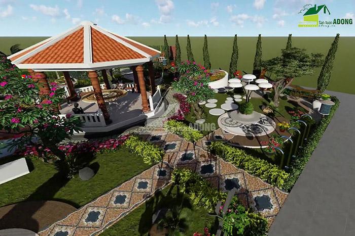 thiết kế cảnh quan công viên tại Thanh Hóa góc nhìn 13