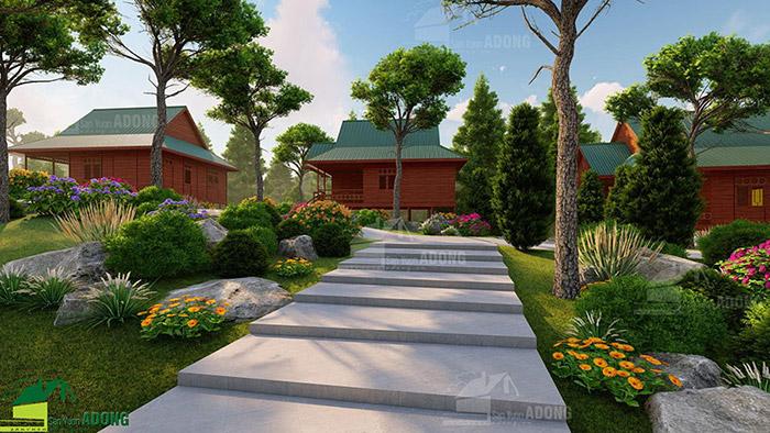 thiết kế khu nghỉ dưỡng tại Lào