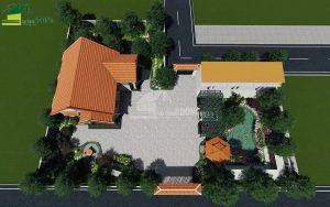 thiết kế cảnh quan sân vườn biệt thự tại Hà Nam view 01