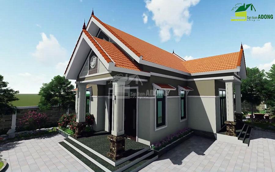 thiết kế cảnh quan sân vườn biệt thự tại Hà Nam view 02