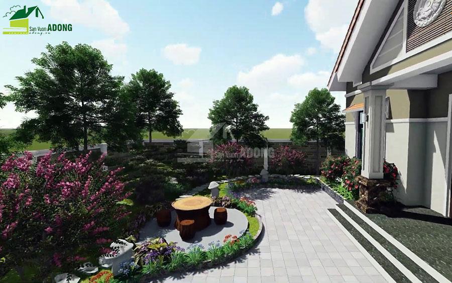 thiết kế cảnh quan sân vườn biệt thự tại Hà Nam view 05