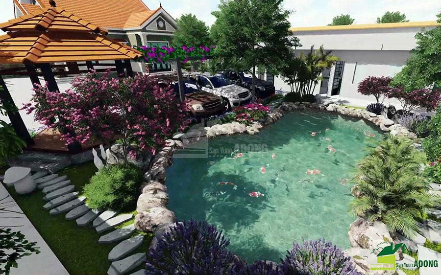 thiết kế cảnh quan sân vườn biệt thự tại Hà Nam view 13