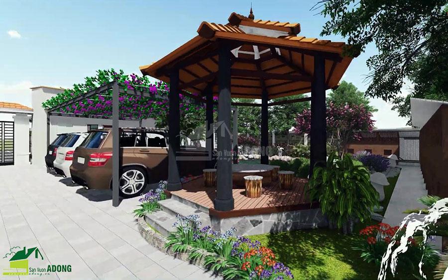 thiết kế cảnh quan sân vườn biệt thự tại Hà Nam view 15