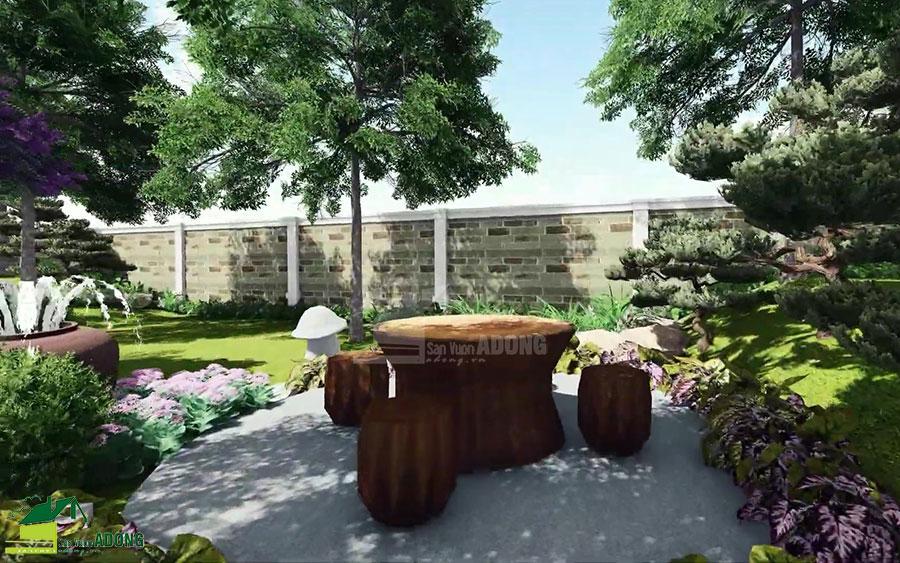 thiết kế cảnh quan sân vườn biệt thự tại Hà Nam view 19