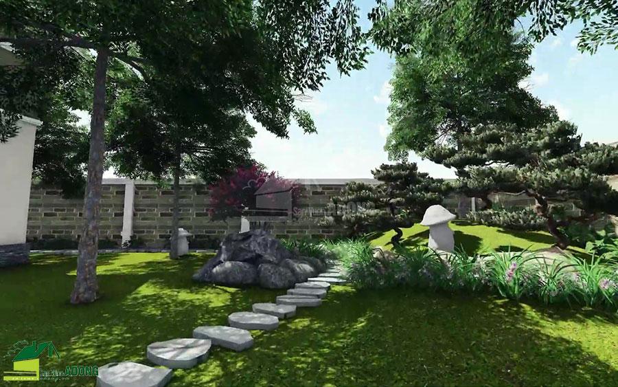 thiết kế cảnh quan sân vườn biệt thự tại Hà Nam view 21