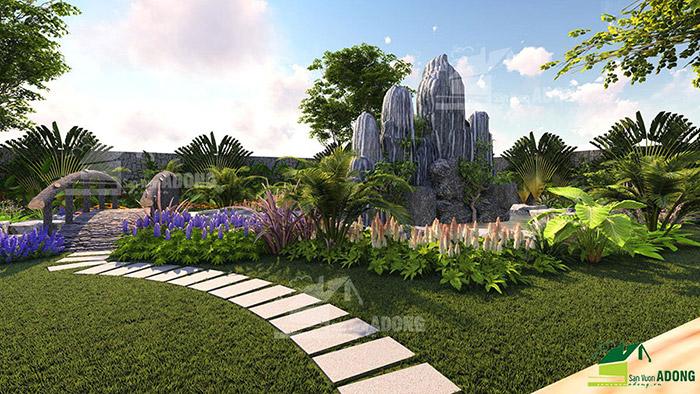 Thiết kế cảnh quan sân vườn khu nghỉ dưỡng gia đình ở Bình Phước