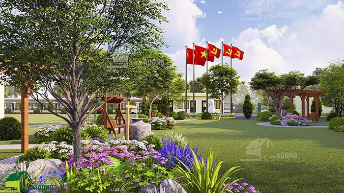 thiết kế cảnh quan sân vườn nhà máy tại Đồng Nai