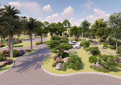 thiết kế cảnh quan sân vườn - sân vườn á đông