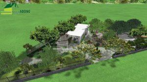 thiết kế không gian quán cafe sân vườn view 01