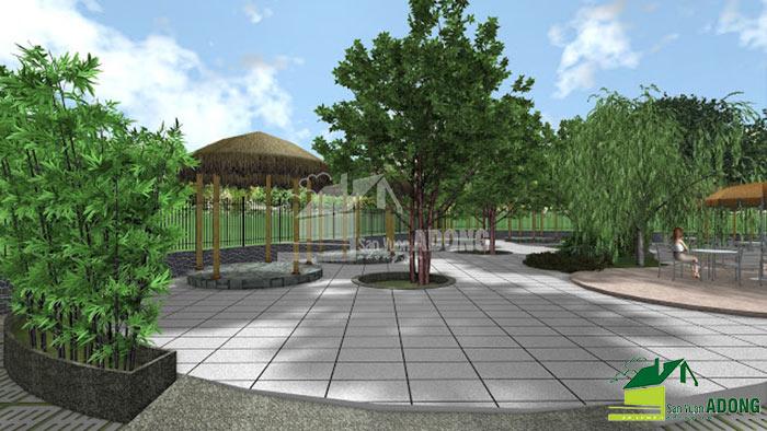 thiết kế không gian quán cafe sân vườn view 06