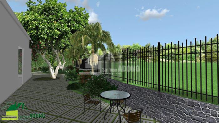 thiết kế không gian quán cafe sân vườn view 08