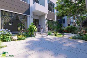 thiết kế sân vườn biệt thự tây hồ tây