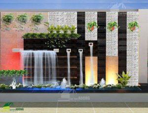 Thiết kế thác nước tường tại Hà Nội