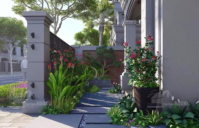 Thiết kế tiểu cảnh biệt thự vinhomes