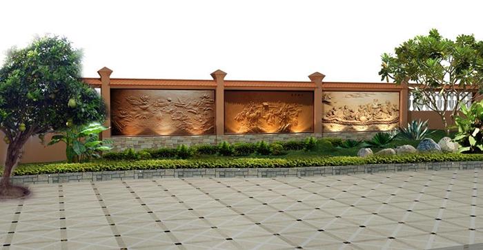 tranh phu dieu dap noi san vuon