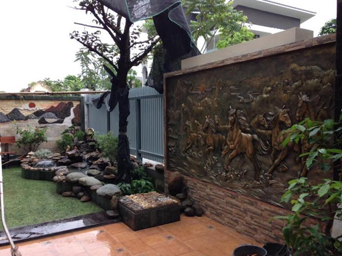 tranh phu dieu san vuon